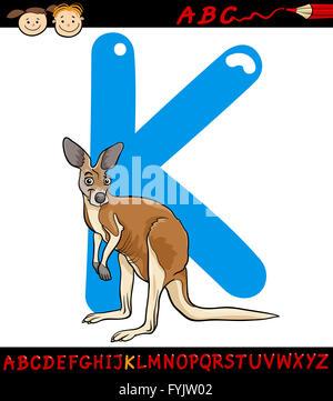 Illustration of an alphabet k is for kangaroo Stock Vector ...