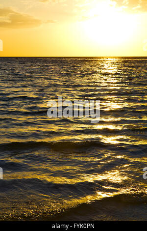 asia in the  kho tao bay isle sunset sun   thailand  and south    sea - Stock Photo