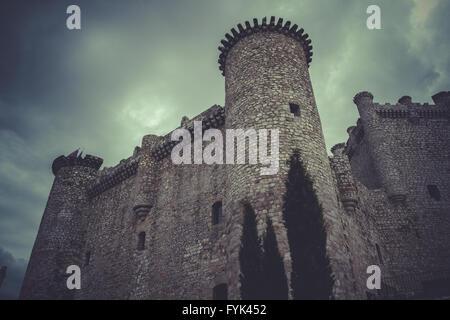 Medieval castle, spain architecture - Stock Photo