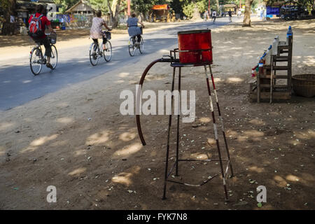 Filling station, Bagan, Mandalay Division, Myanmar - Stock Photo