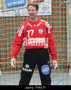Goalkeeper Dan Beutler (TBV Lemgo) - Stock Photo