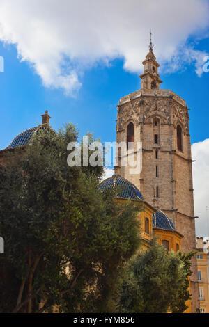 Metropolitan Basilica Cathedral - Valencia Spain - Stock Photo