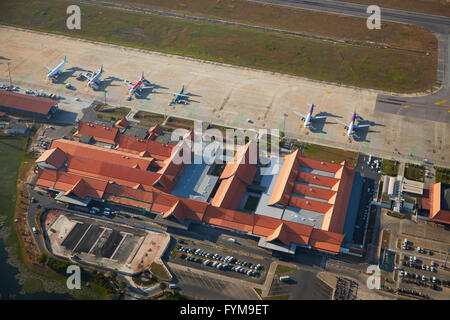Siem Reap International Airport, Siem Reap, Cambodia - aerial - Stock Photo