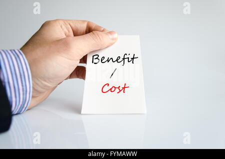 Benefits cost Text Concept - Stock Photo