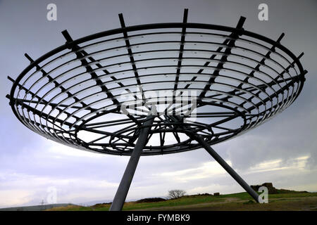 'Halo', a panopticon at Top o' Slate, Haslingden, Lancashire, one of 4 in the county. - Stock Photo