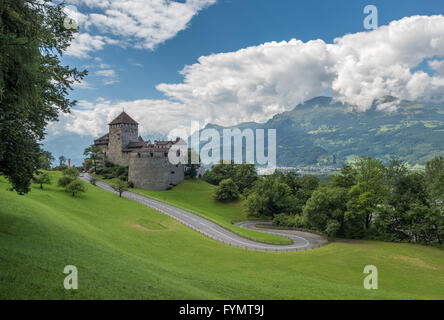 Vaduz Castle, the palace and official residence of the Prince of Liechtenstein. - Stock Photo