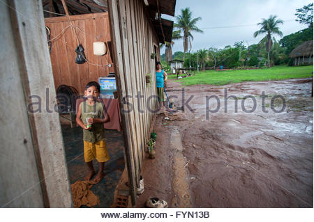 Lapetanha, Rondonia, Brazil at the '7th September Indian Reserve'. - Stock Photo