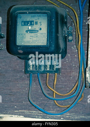 Electricity meter - Stock Photo