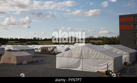 central contact point for asylum seekers - Stock Photo