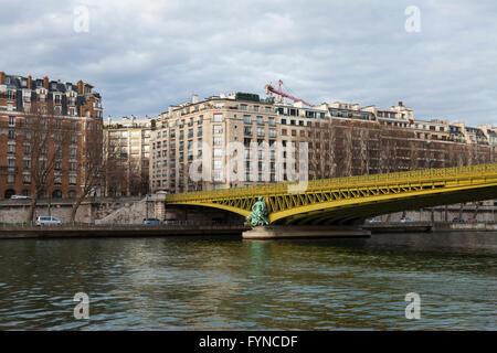 Mirabeau bridge, pont mirabeau, paris, 2015 - Stock Photo