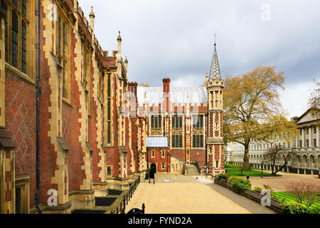 Lincoln's Inn Court in London, UK. Honourable Society of Lincoln's Inn is one of four Inns of Court in London, to - Stock Photo