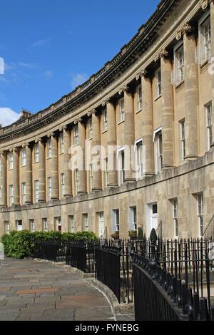 Royal Crescent Bath Wiltshire England - Stock Photo