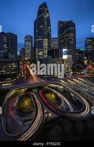 Road in Shinjuku, Tokyo, Japan - Stock Photo