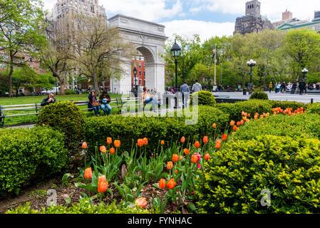 New York, NY 27 April 2016 - Springtime in Washington Square Park © Stacy Walsh Rosenstock - Stock Photo