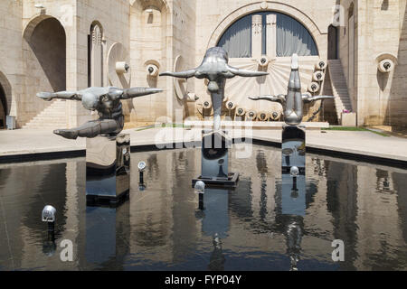 Sculpture, Cascade, Yerevan, Armenia, Caucasus region - Stock Photo