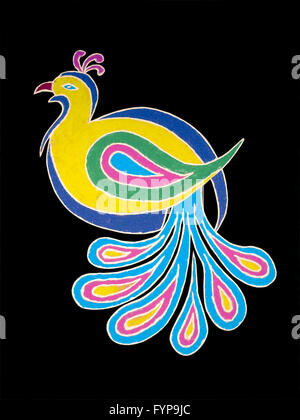 Colorful Rangoli during Diwali festival - Stock Photo