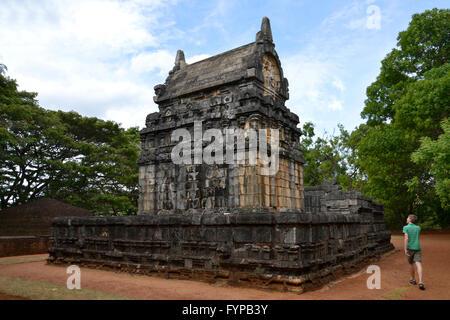 Tempel, Nalanda Gedige, Matale, Sri Lanka - Stock Photo