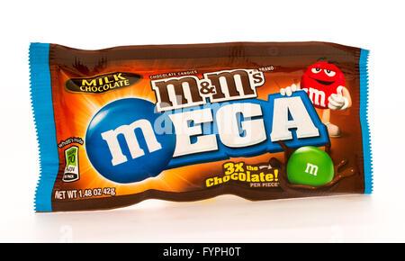 Winneconni, WI - 16 June 2015:  Mega M&M's chocolate candy - Stock Photo