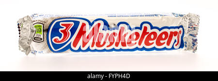 Winneconni, WI - 19 June 2015:  3 Musketeers candy bar - Stock Photo