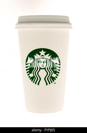 Winneconne, WI - 15 May 2015:  Cup of starbuck coffee - Stock Photo