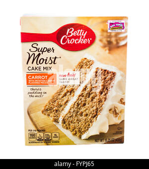 Winneconne, WI - 5 February 2015: Box of Betty Crocker Carrot Cake Mix. - Stock Photo