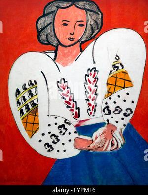 La Blouse Roumaine, by Henri Matisse, 1940, Centre Pompidou, Paris, France, Europe - Stock Photo