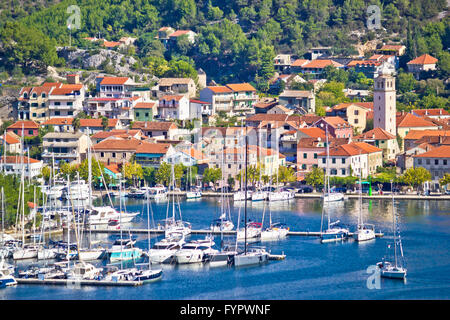 Town of Skradin on Krka river - Stock Photo