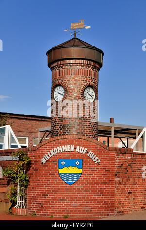Entrance to North Sea island of Juist, East Frisian Islands, Lower Saxony, Germany - Stock Photo