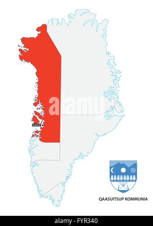 Greenland Political Map Stock Photo Royalty Free Image 80608172