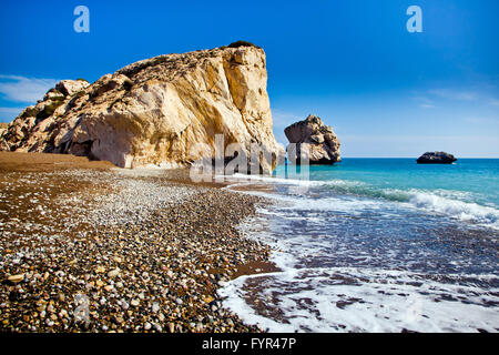Aphrodite's legendary birthplace in Paphos, Cyprus - Stock Photo