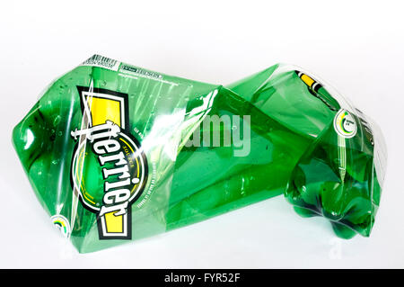 In France, Perrier mineral water is now sold in plastic bottles. - Stock Photo
