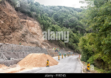 STORMS RIVER MOUTH, SOUTH AFRICA - MARCH 1, 2016:  Rehabilitation along the road from the entrance gate through - Stock Photo