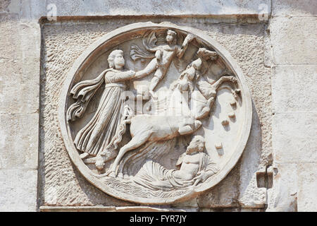 Carvings on the Arco Di Costantino AD 315 (Arch of Constantine) Rome Lazio Italy Europe - Stock Photo
