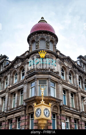 Building with Rolex logo on the corner - Stock Photo