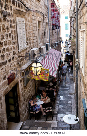 Alley In Dubrovnik Old City Town - Stock Photo