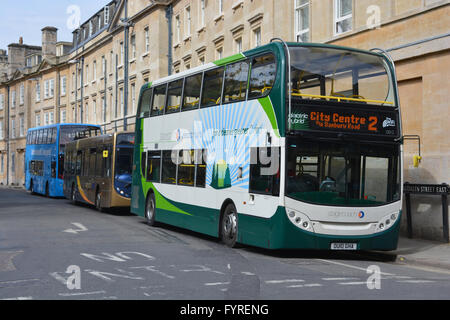 Stagecoach Electric Hybrid bus in Oxford city centre. - Stock Photo