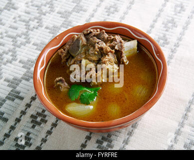 Mutton Paya Pakistani soups - Stock Photo