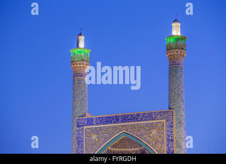 The Shah Mosque in Isfahan, Iran. Night shot - Stock Photo