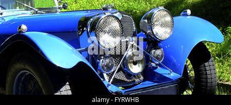 Roadster SS100, Jaguar classic car - Stock Photo