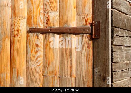 Door of the old barn - Stock Photo