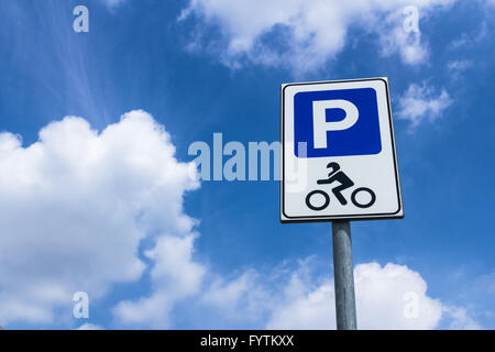 Parking motorcycles - Stock Photo
