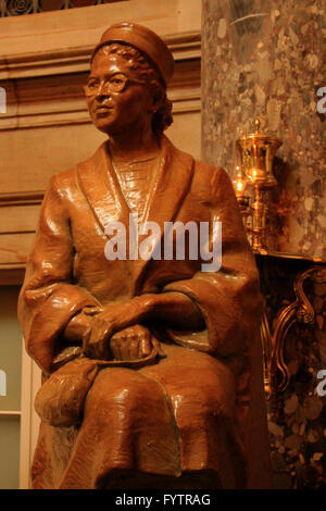 detail of capitol building washington dc rosa parks statue - Stock Photo