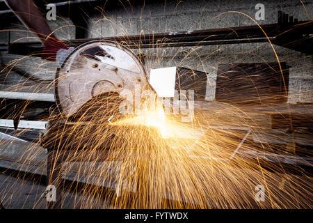 Cutting Metal - Stock Photo