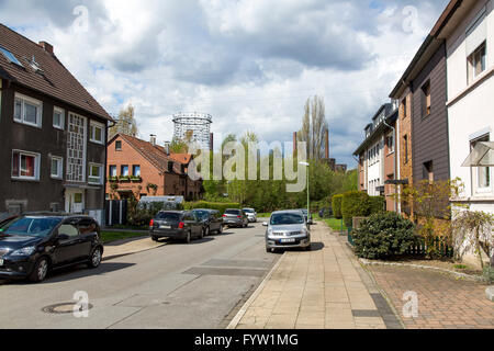 Former miners settlement near the Zollverein coking plant, in Essen Germany, - Stock Photo