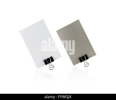 Two blank business cards - Stock Photo