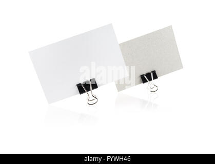 Two blank business card - Stock Photo