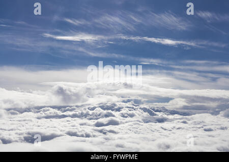 Flight Over Clouds - Stock Photo
