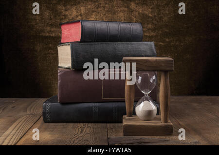 Old Books On Table - Stock Photo