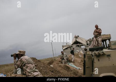 Mahana, Kurdistan. 27th April, 2016. The Iraqi army liberated the village of Mahana in Iraqi Kurdistan -  27/04/2016 - Stock Photo