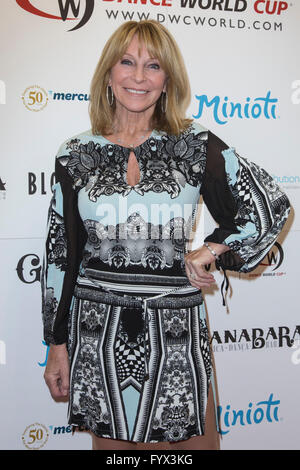 London, UK. 28 April 2016. Bonnie Lythgoe. The press launch for the 2016 BLOCH Dance World Cup takes place at the - Stock Photo